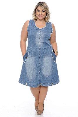 Vestido Jeans Plus Size Laureci