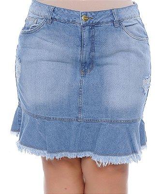 Saia Jeans Plus Size Lisane