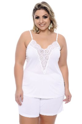 Short Doll Plus Size White