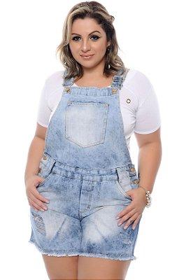 Jardineira Jeans Plus Size Moira
