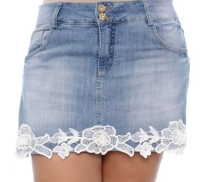 Shorts Saia Jeans Plus Size Kaly