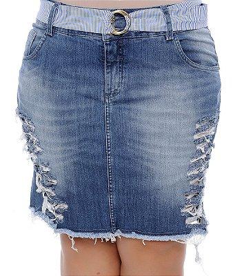 Saia Jeans Plus Size Gardot