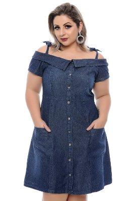Vestido Jeans Plus Size Justine