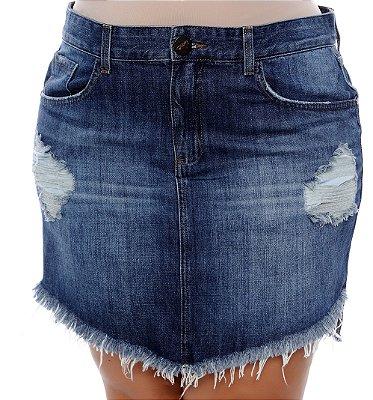 Saia Jeans Plus Size Moara