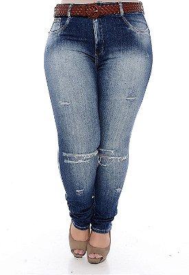 Calça Jeans Skinny Plus Size Sansa