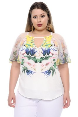 Blusa Plus Size Mória