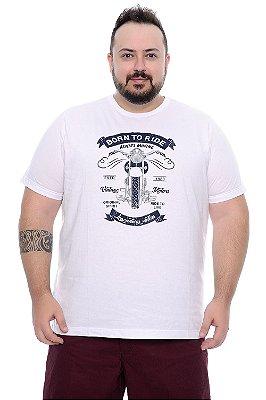 Camiseta Masculina Plus Size Arielo