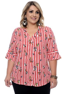 Camisa Plus Size Nisha