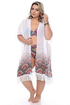 Saída de Praia Kimono Plus Size Neva