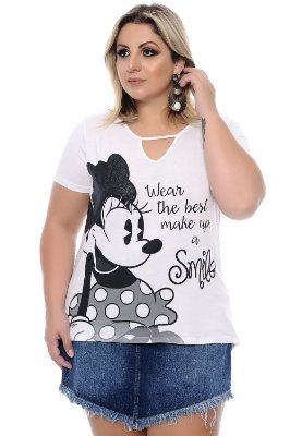 Blusa Plus Size Smile White