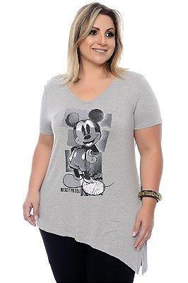 Blusa Plus Size Mickey Stylus Grey