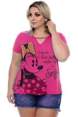 Blusa Plus Size Smile Pink