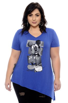 T-shirt Plus Size Mickey Stylus Blue
