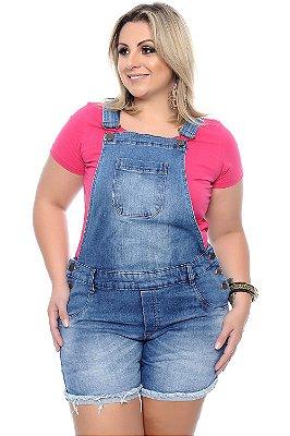 Jardineira Jeans Plus Size Anat