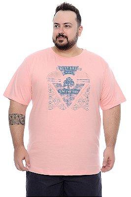 Camiseta Masculina Plus Size Téo