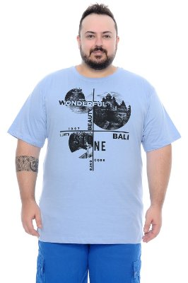 Camiseta Masculina Plus Size Jaime