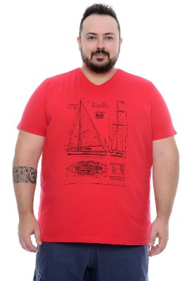 Camiseta Masculina Plus Size Ted