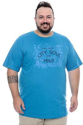 Camiseta Masculina Plus Size Piter