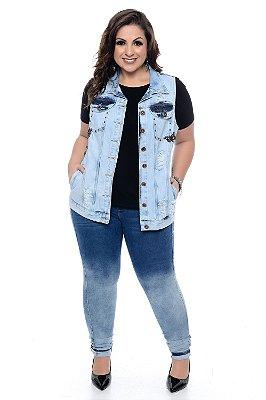 Colete Jeans Plus Size Lean