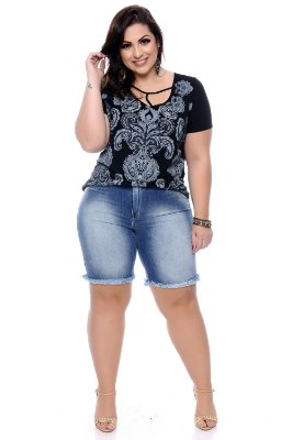 Bermuda Jeans Plus Size Yeva