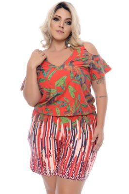 Macaquinho Plus Size Mayalle