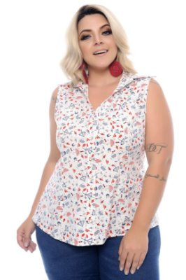 Camisa Plus Size Nelbis