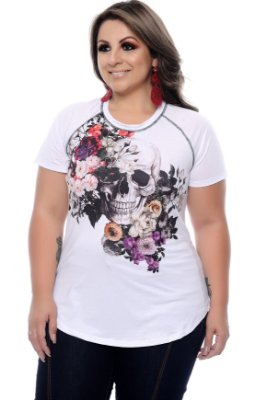 T-shirt com Lenço Plus Size Blenda