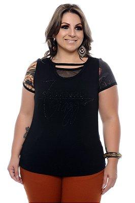 Blusa Sobreposta Plus Size Nydia