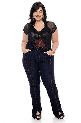 Calça Jeans Flare Plus Size Yizel