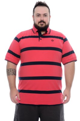 Camisa Polo Masculina Plus Size Cam