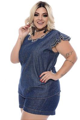 Blusa Jeans Plus Size Narhea