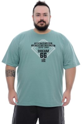 Camiseta Masculina Plus Size Oseas