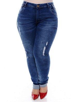 Calça Jeans Skinny Plus Size Magel