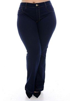 Calça Flare Jeans Plus Size Irelia
