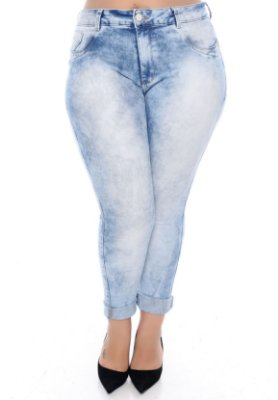 Calça Jeans Cigarrete Plus Size Belise