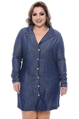 Vestido Chemise Jeans Plus Size Reinka