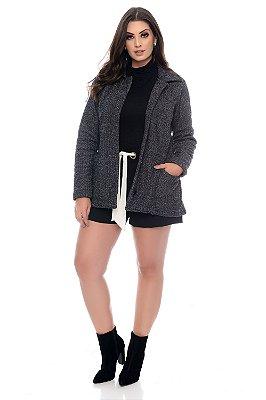 Casaco Tweed Plus Size Evita