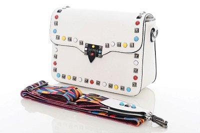 Bolsa de Spike com Alça Colorida Malani M