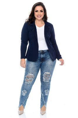 Calça Jeans Cigarrete Plus Size Valette