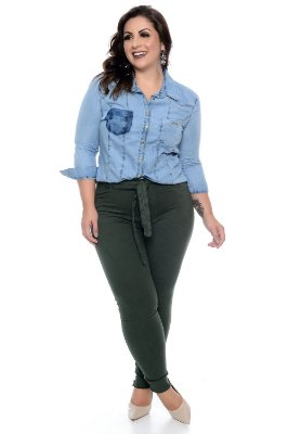 Camisete Jeans Plus Size Yennefer