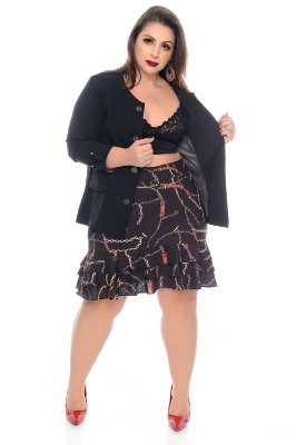 7032a4d56f Casaco Plus Size Samilly