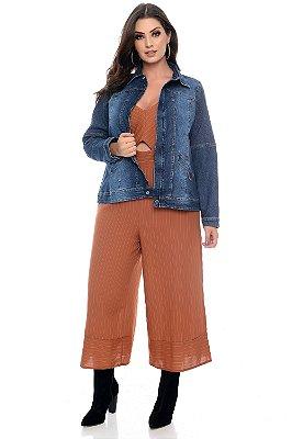 Jaqueta Jeans Plus Size Hava