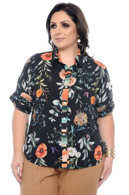 Camisa Plus Size Glice