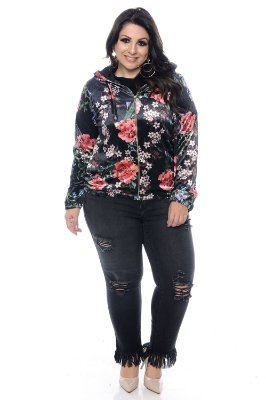 Casaco Plus Size Floral Nayma