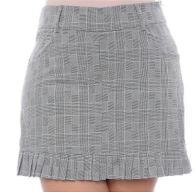 Shorts Saia Xadrez Plus Size Gorety