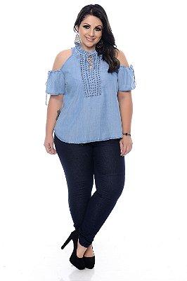 Blusa Jeans Plus Size Naylane