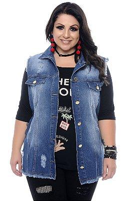Colete Jeans Plus Size Sadala
