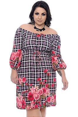 Vestido Xadrez Plus Size Hulda