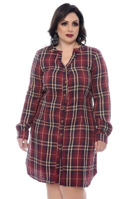 Vestido Chemise Plus Size Solana