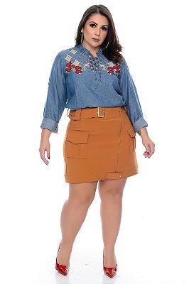 Blusa Jeans Plus Size Valiana